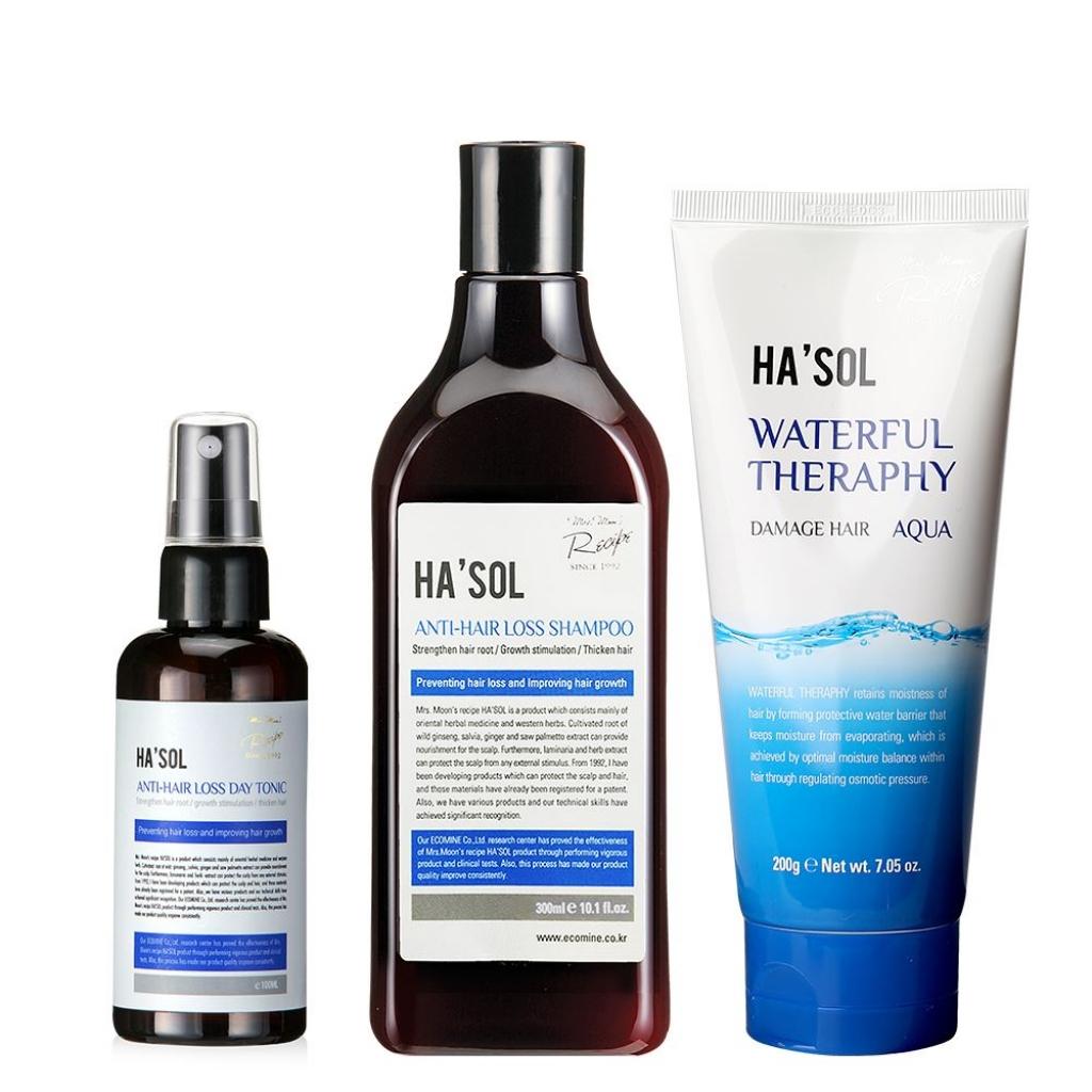Набор для интенсивного ухода против выпадения волос, 3 ед
