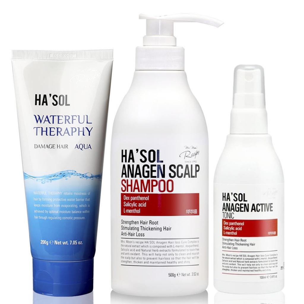 Комплекс профессиональных средств против выпадения волос HASOL Anagen Line