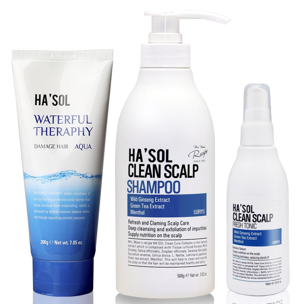 Набор для глубокой очистки кожи головы и волос HASOL Clean Line