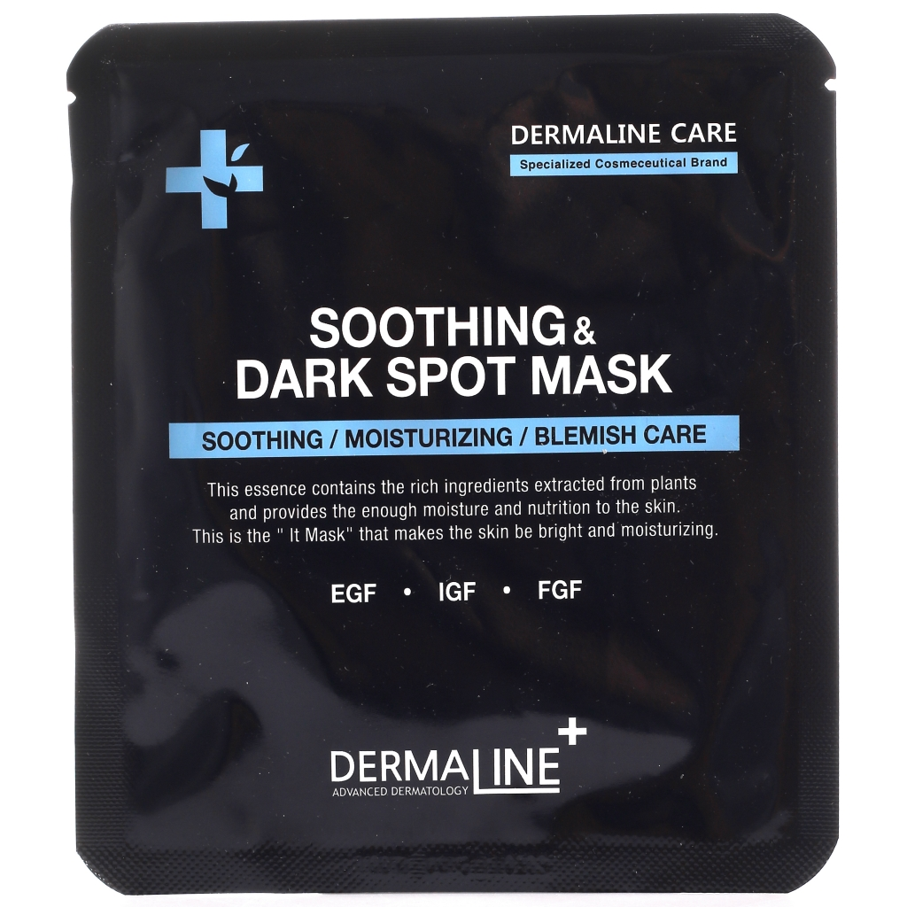 Маска успокаивающая и выравнивающая тон кожи Dermaline Soothing & Dark Spot Mask