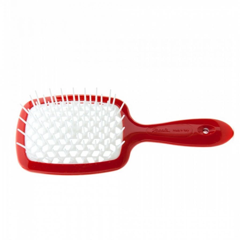 Щетка массажная JANEKE SUPERBRUSH RED / WHITE антистатическая для идеальной прически