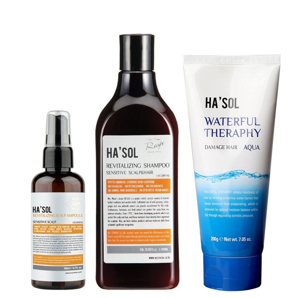 Набор для интенсивного восстановления поврежденных волос, 3 ед
