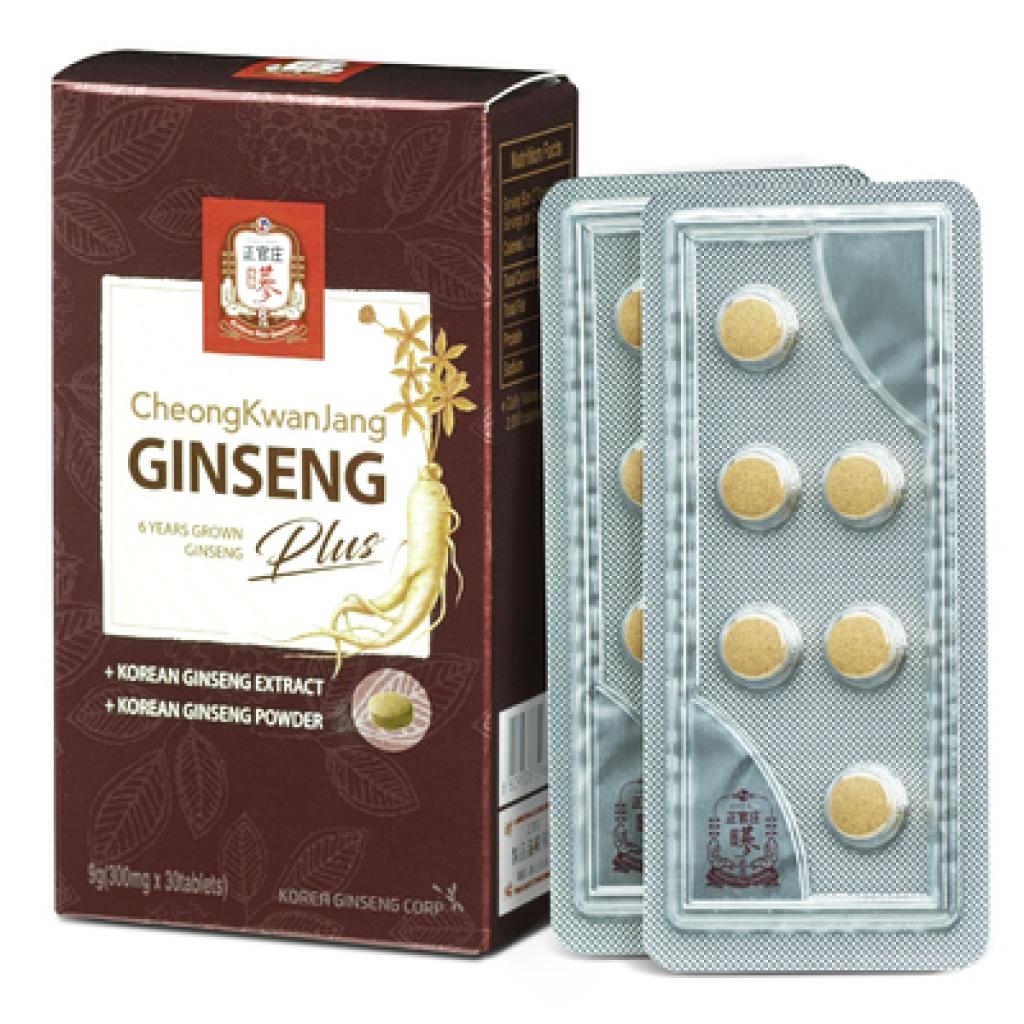 Загальнозміцнюючий преміальний комплекс вітамінів CKJ GINSENG + з женьшенем KGC, 30 шт
