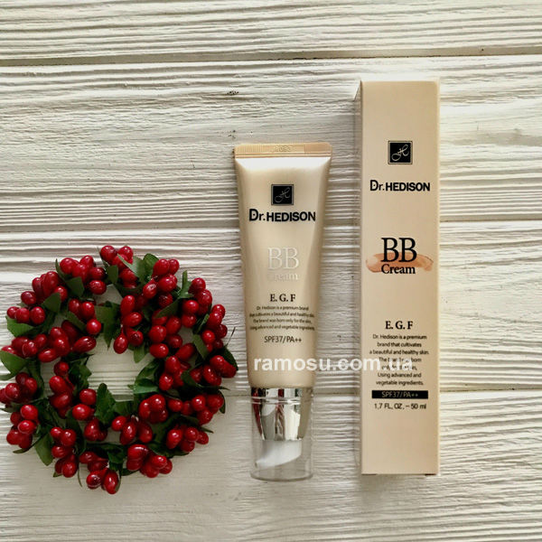 BB-cream-EGF-Dr-Hedison {focus_keyword} ВВ-крем Dr.Hedison с пептидами и солнцезащитой SPF37/PA++, 50 мл BB cream EGF Dr Hedison